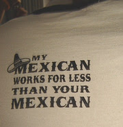 Funny Thailand T-Shirts: My Mexican works for less than your Mexican