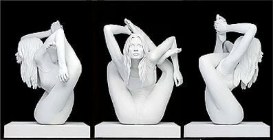Kate Moss Sculpture (yoga position)