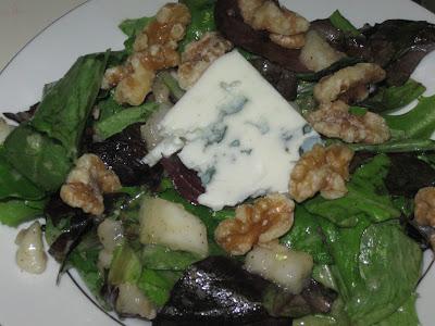 Pear, Roquefort and Walnut Salad