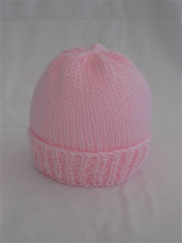 Knitting Pattern For Baby Hat Using Straight Needles : Sea Trail Grandmas: Easy Newborn Hat Knitting Pattern