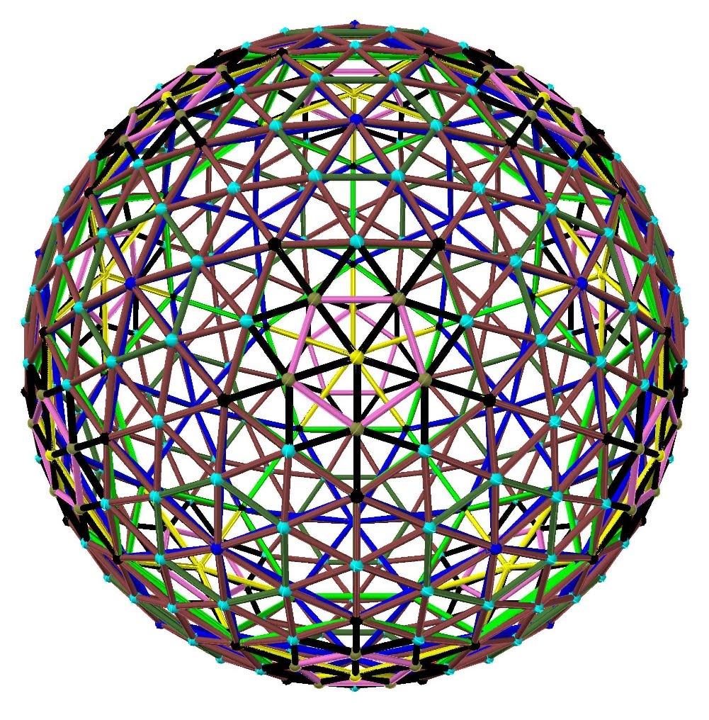 Geodesic Dome Template: David J. Wetzel: 6v Icosa Method 2 Class 1 Geodesic Sphere