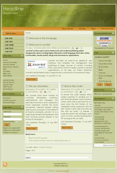 Theme Joomla 2.5 templates Joomla 1.7 Templates Free Download Joomla ...