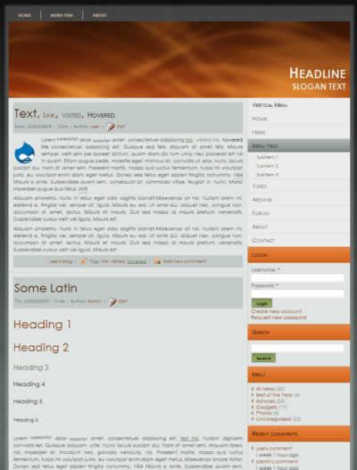 Drupal Themes Free Download Free Drupal 7 Blog Theme