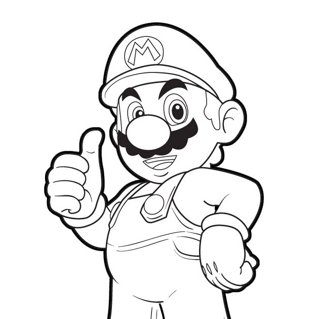 jimbo u0026 39 s coloring pages  mario thumbs up