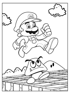 jimbo's Coloring Pages: New Mario coloring page
