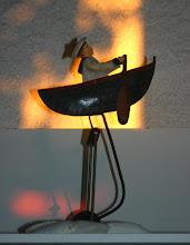 Mobile en métal peint pour tables des rameurs