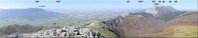 Panorámica desde la cima de Olano