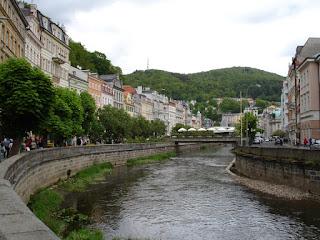 Río Teplá a su paso por Karlovy Vary.