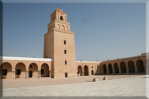 Patio de la Gran Mezquita de Kairouan