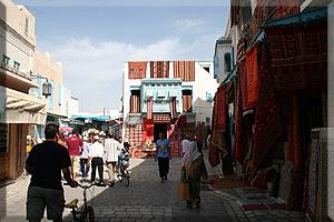 Alfombras en la Medina de Kairouan