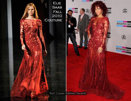 Catwalkin Os Looks De Rihanna No American Music Awards 2010