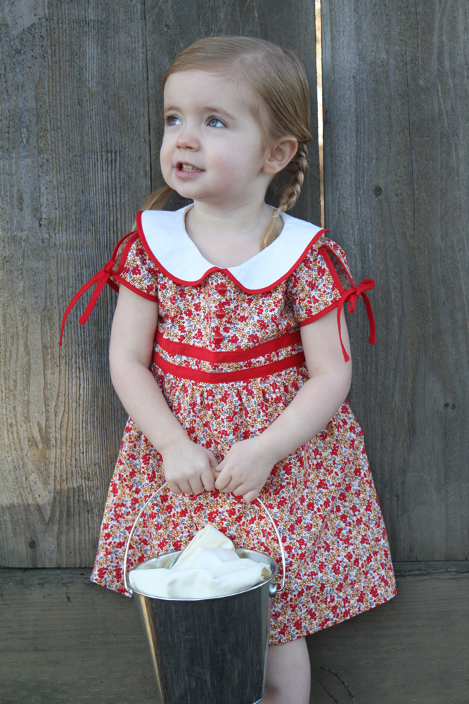 Vintage Feedsack Dress Tutorial And Free 2 3t Pattern