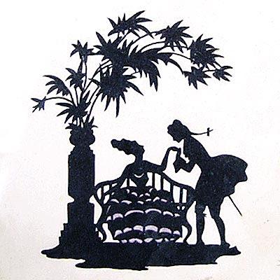 silluettes - scenka dworska w stylu retro