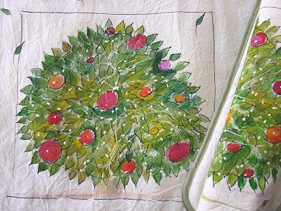 podkładki na stół ręcznie malowane