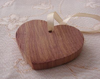 serce z drewna cedrowego