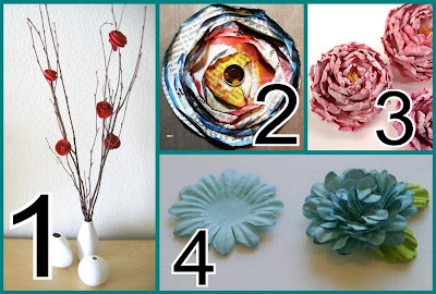 Paper flowers tutorials the scrap shoppe spiral flower from dozi design 2 newspaper flowers from balzer designs 3 paper peonies by lisa yuen with detailed instructions on the mel stampz blog mightylinksfo