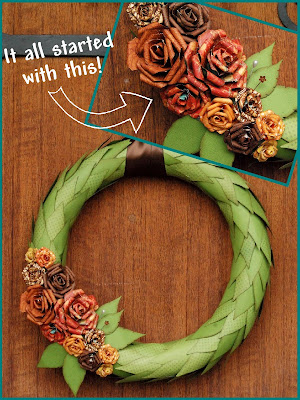 Paper flowers tutorials the scrap shoppe im blogging about paper flowers today because i came across these stunning flowers shown on the wreath above by bo bunny design team member tonya dirk mightylinksfo