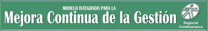 Modelo para la Mejora Continua de la Gestion Institucional - SENA REGIONAL CUNDINAMARCA