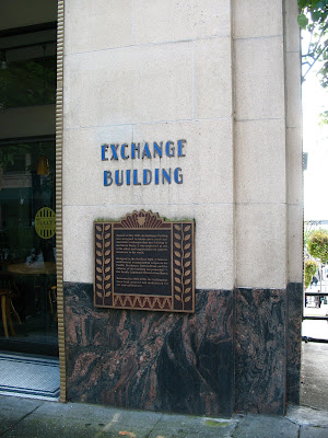 Signage, Exchange Building, Seattle, WA