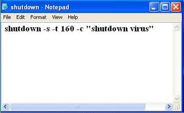 Shutdown Bat