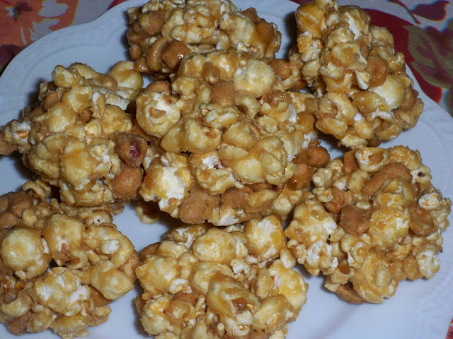 Salted Caramel Popcorn Balls without Corn Syrup   recipe by Kristy @ Little Natural Cottage
