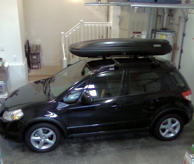 Suzuki SX4 with Thule Roof Carrier - Subcompact Culture
