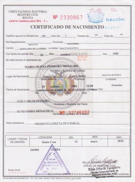 Bolivia: ¿Cómo corregir los datos del Certificado de nacimiento, matrimonio o defunción?