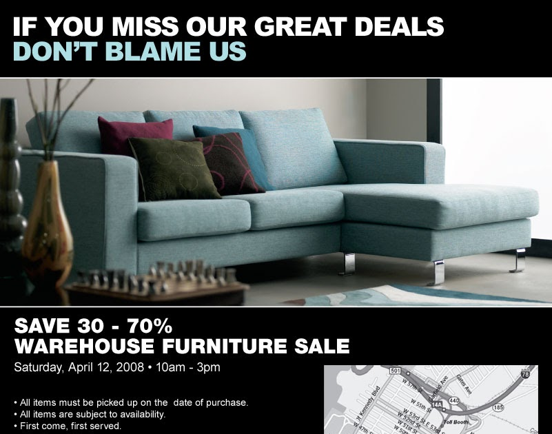 Guerilla shopper nyc boconcept furniture warehouse sale for Furniture warehouse sale