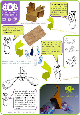 BobHanger - design de Joan Nadal - recicle garrafas PET usadas transformando-as em cabides