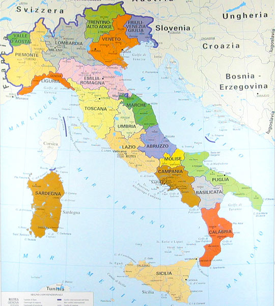 Italia In Cartina Geografica.Impariamo Insieme Cartine Geografiche Dell Italia