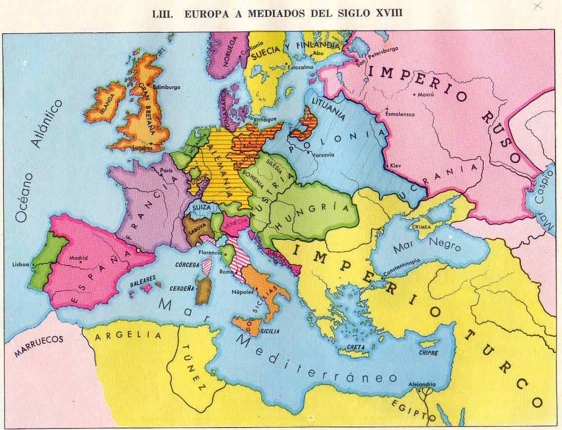 El Mundo De Maria Del Mar Mapa De Europa Del Siglo Xix