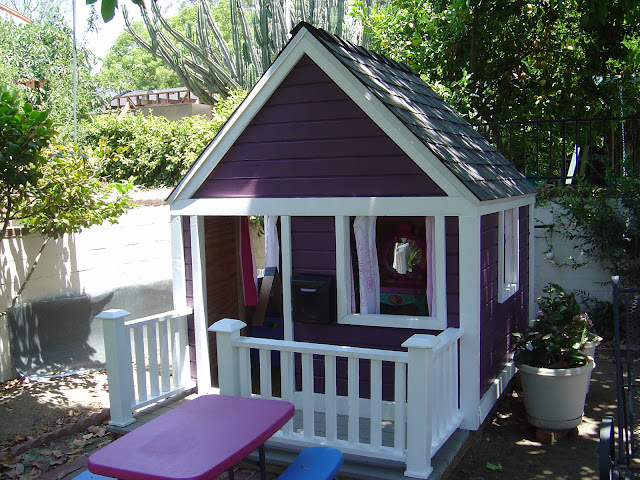Backyard Playhouse of Organizing Made Fun's home tour