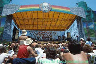 Grateful Dead stage - June 4, 1978 Santa Barbara