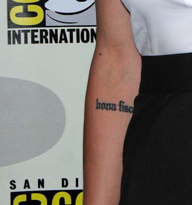 Tattoos. Color Tattoos. War Skull katee sackhoff's latin tattoo,