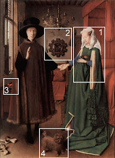 symbolism in giovanni arnolfini and his bride For giovanni arnolfini marrying into such a prominent family as the cenamis was undoubtedly a significant boost to his financial fortunes unfortunately, we do not know which year they were married so while not certain, the identification of the couple as giovanni arnolfini and giovanna cenami seems likely.