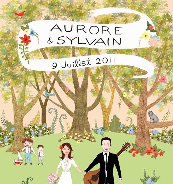 Margotmadison A Charming Illustrated Wedding Invitation border=