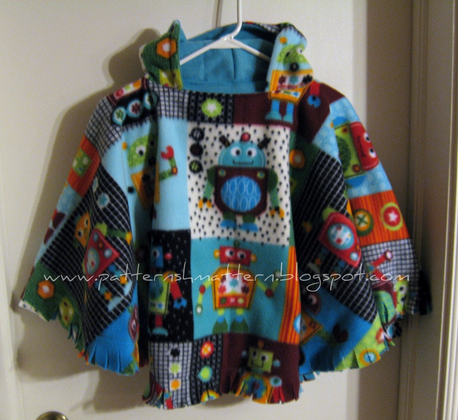 Pattern Shmattern: Reversible Car Seat Poncho Tutorial
