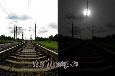 Как превратить день в ночь в Photoshop CS5 ?