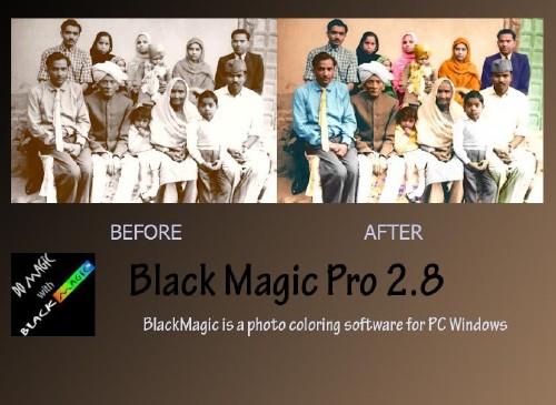 Прога Black Magic Pro для раскрашивания чёрно-белых изображений.Скачать.