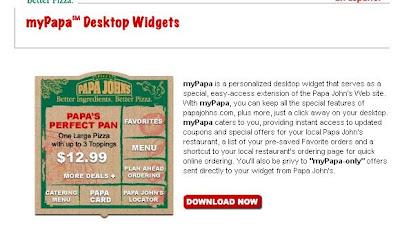 Papa John's Desktop Application