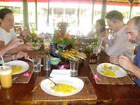 Eating a self cooked lunch in 'Rumah Bali'