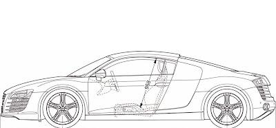Fuzzy S Audi R8 Commercial Audi R8 Blue Print Template