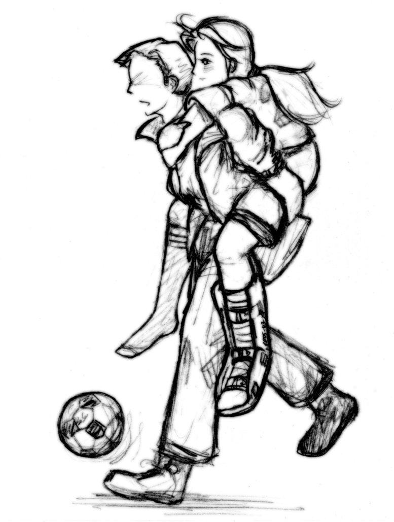 Dibujos Parejas Jugando Futbol