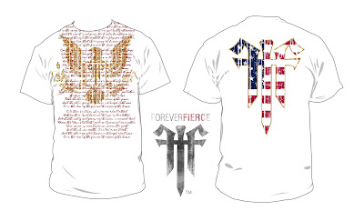 9b081020c7e9ba Star Spangled Banner Design printed on White American Apparel t-shirt. We  used a metallic gold ink to create the eagle on the front of the shirt and  to ...