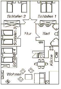 Ferienwohnungen Franz Travemünde. Ferienwohnung 3: Grundriß