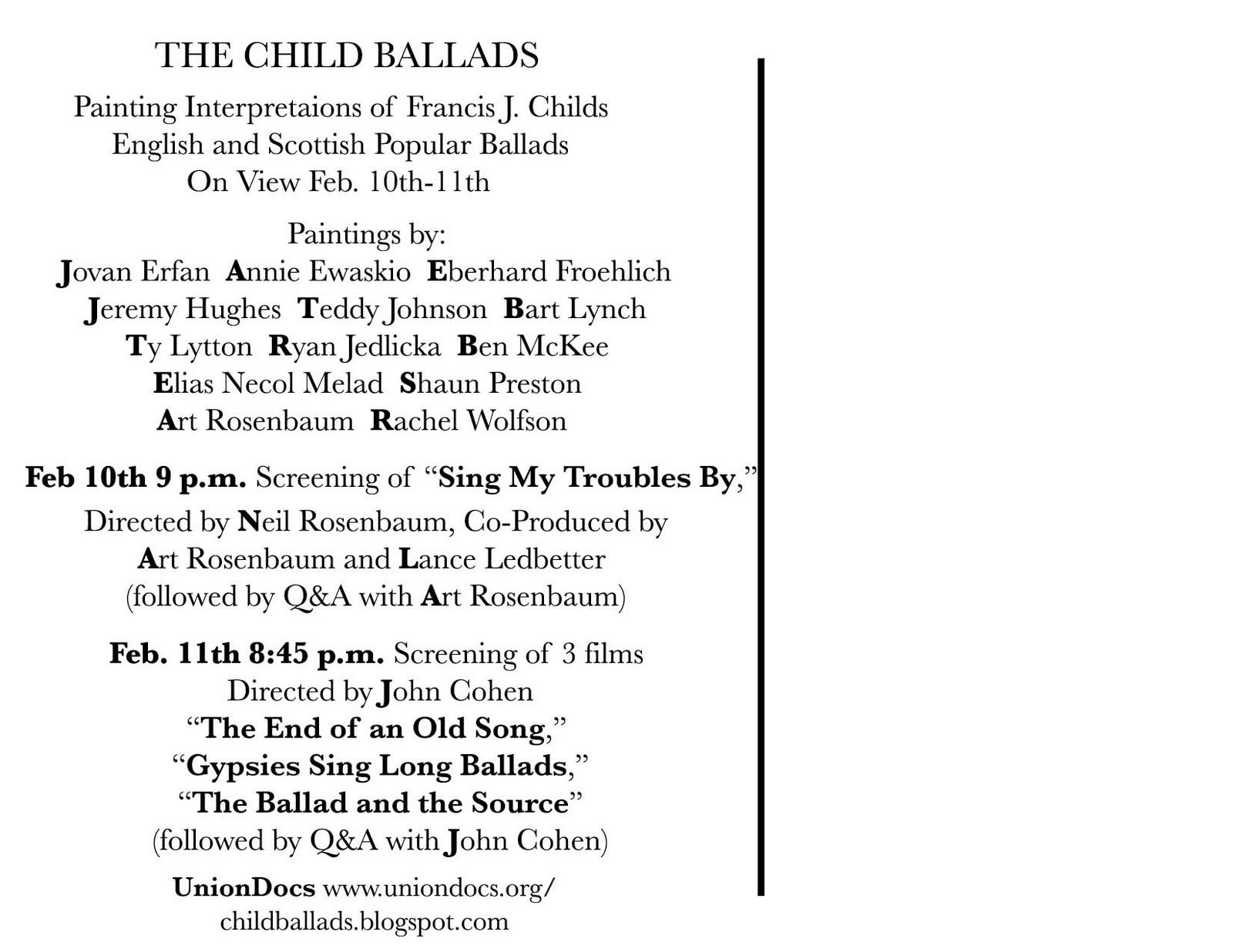 the child ballads show