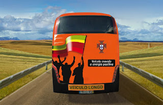 Autocarro da selecção com bandeira 'gay', patrocinado pela Galp