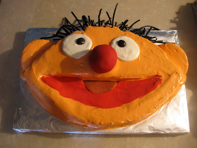 Recognizing The Hair As Key To Ernie Cake I Dragged My In Laws Through All Puddles Of One Those Soaking Windy New York Days From Park Slope