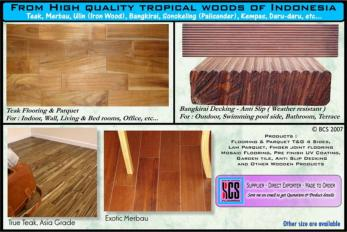 FROM HIGH QUALITY TROPICAL WOOD OF INDONESIA