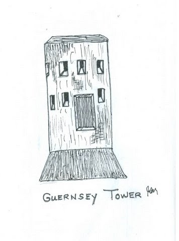 JIM MATHEWS' SKETCHES: Guernsey Tower, Great Britain
